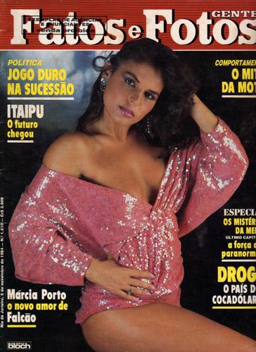 Márcia Porto foi tipo sensação em 1985, mas no mesmo ano também teve um grave contratempo  Créditos: Reprodução/Revista J.P