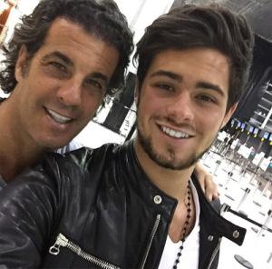 Entre pai e filho: Alvaro e Alvarinho Garnero em um passeio pela Ralph Lauren