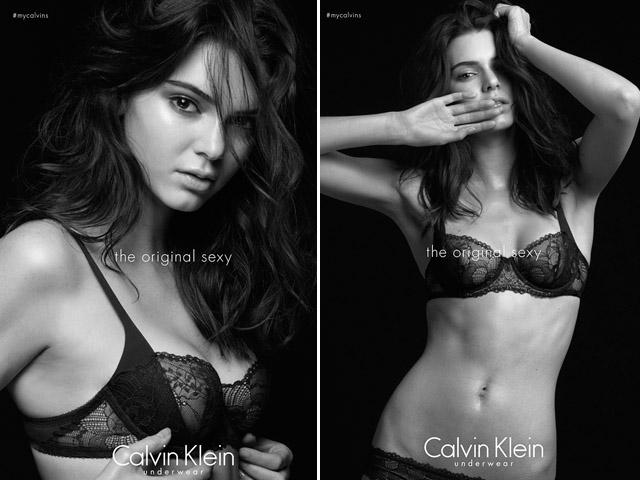 Kendall Jenner para Calvin Klein Underwear || Créditos: Divulgação