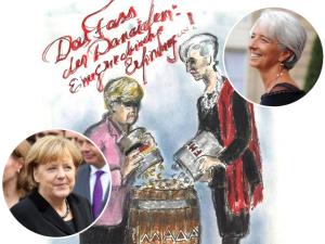 Karl Lagerfeld mostra com quantas cores se encara a crise grega