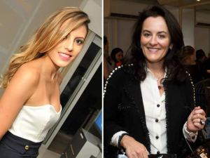 Ana Eliza Setubal e Larissa Bomfim coletam assinaturas na Paulista