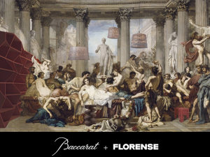 "Baccarat e Florense armam jantar pela mostra ""Table of Greats"""