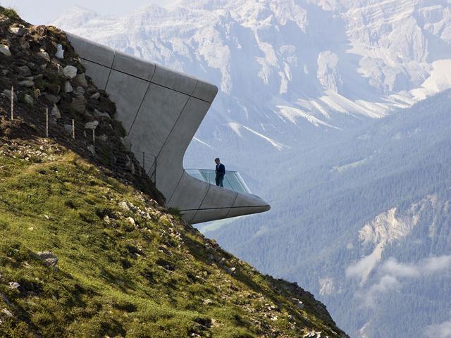 O Messner Mountain Museum, nos alpes italianos || Créditos: Divulgação