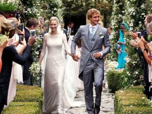 Beatrice Borromeo e Pierre Casiraghi se casam no norte da Itália