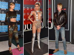 VMA 2015 teve Taylor  Swift arrasando, Bieber de volta à franja e Miley quase sem roupa