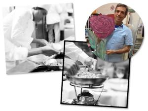 Fabio Porchat e Paulo Von Poser em jantar beneficente no Rodeio