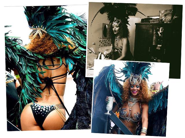 Rihanna no Carnaval de Barbados      Créditos: Reprodução Instagram