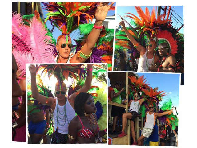 Stefano Gabbana curte e muito o Carnaval de Antiqua      Créditos: Reprodução Instagram