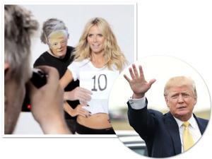 Heidi Klum responde a Donald Trump com muito bom humor