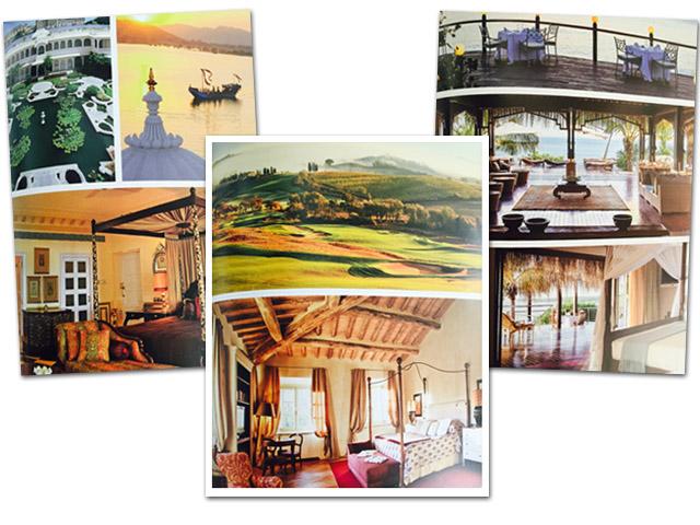 Algumas imagens do livro de Udaipur (Índia), Montacilno (Itália) e Iha de Bazaruto (Quênia) || Créditos: Divulgação