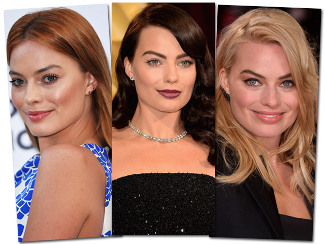 Margot Robbie em três versões || Créditos: Getty Images