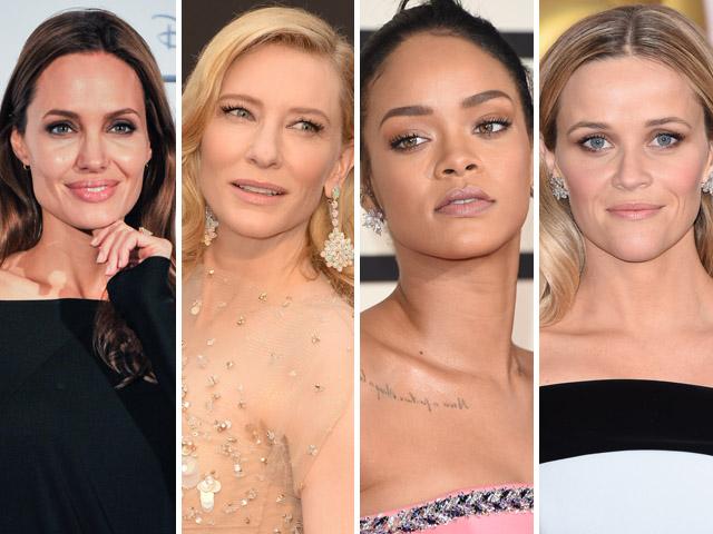 Angelina Jolie, Reese Witherspoon, Cate Blanchet e Rihanna são adeptas do nude      Créditos: Getty Images