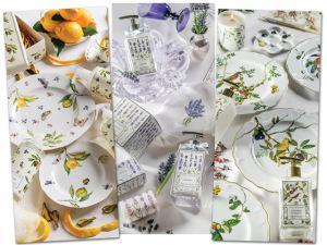 Tania Bulhões lança novo catálogo combinando mesa e perfumaria