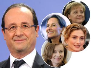 As 4 mulheres poderosas ao redor do aniversariante François Hollande