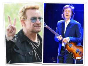 Bono tira de Paul McCartney o título de mais rico da música