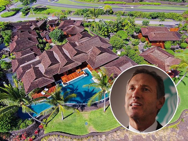 Howard Schultz vai tomar seu cafezinho em mansão fantástica no Havaí     Créditos: Divulgação / Getty Images