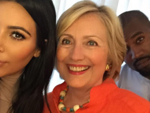 Hillary Clinton: a nova vítima da rainha da selfie, Kim Kardashian