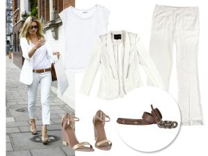 Steal the look: tudo branco com Kate Moss nesta quinta-feira