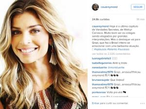 Via Instagram: Cauã Reymond rasga elogios a Grazi Massafera