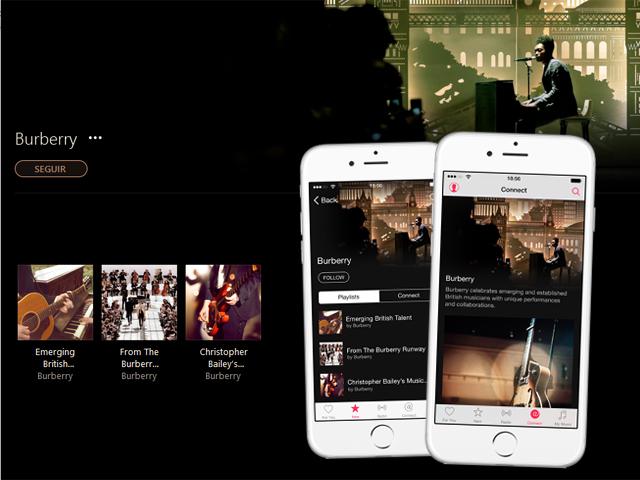 A parceria entre Burberry e Apple trará aos usuários do Apple Music playlists com curadoria da label britânica