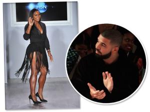 Drake assiste a desfile de Serena Williams e aumenta rumores de namoro