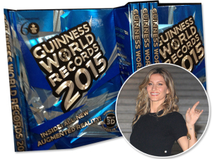 Gisele no Guiness Book como modelo mais bem paga do mundo
