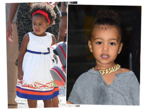 "No ""ringue"", as pequenas Blue Ivy e North West: filhas de peixe…"