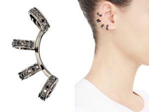 Desejo do Dia: o ear cuff de diamantes negros da Repossi