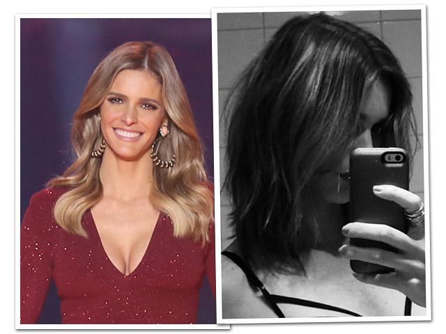 O antes e depois do cabelo de Fernanda Lima      Créditos: Reprodução TV Globo e Reprodução Instagram