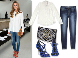 Steal the look: Camisa branca à la Olivia Palermo. Vem ver!