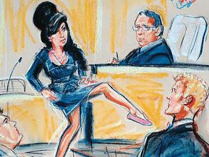 Livro reúne ilustrações dos julgamentos com estrelas do showbiz