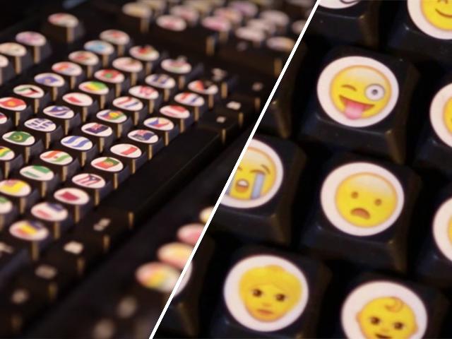 Teclados físicos com os Emojis Créditos: Youtube