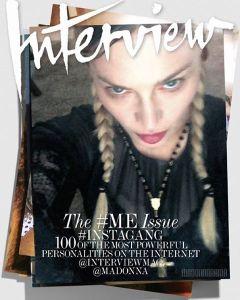 """Madonna faz selfie para a capa de setembro da """"Interview"""""""
