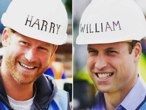 Príncipes William e Harry colocam a mão na massa em reality show