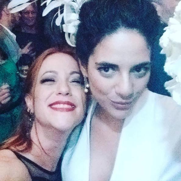 Martha com a amiga e também atriz Giovanna Velasco