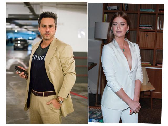 Alexandre Nero e MArina Ruy Barbosa se encontram em SP nesta terça
