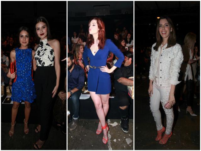 A fila A de PatBo: Camila Coelho, Camila Queiroz,