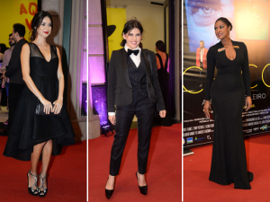 Barbara Paz, Thaila Ayala e Cris Vianna abusam do preto em festival