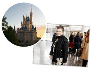 Luiza Helena Trajano comemora aniversário na Disney com os netos
