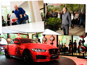 Casa Jaguar XE recebe pingue-pongue de Ricardo Almeida. Play!