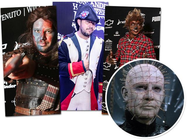 Cadinho em festas passadas de Halloween e o personagem que ele escolheu pra este ano