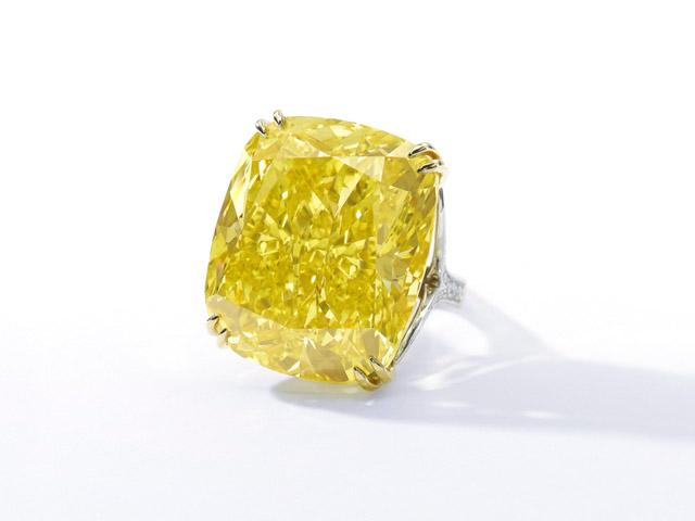 O diamante amarelo Graff Vivid Yellow    Créditos: Divulgação