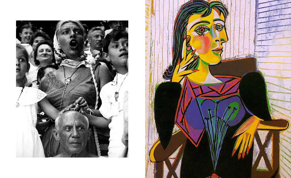 """Dora Maar foi talvez a mais artista das mulheres de Picasso. Pintora e fotógrafa, foi responsável por registrar o processo de criação do quadro """"Guernica"""". Picasso a deixou em 1944, quando assumiu relação com Françoise Gilot."""