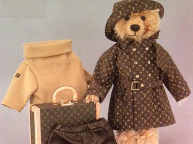 Ursinho da Seiff feito pela Louis Vuitton