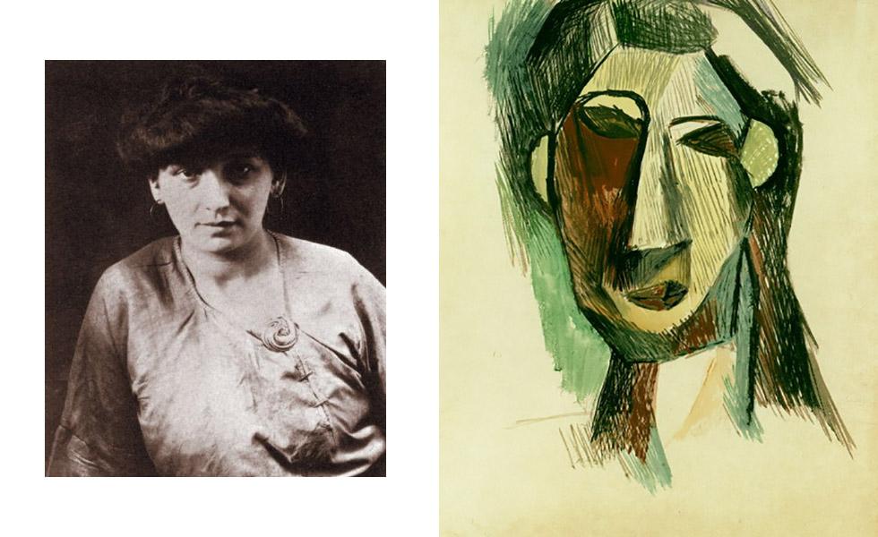 Quando foi morar em Paris, em 1904, Picasso conheceu Fernande Olivier. Mesmo já casada com outro homem, ela viveu com o artista até 1912 e serviu de modelo para uma série de retratos em 1909. Admitiu nunca ter visto sentido no cubismo em recente biografia