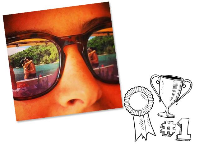 A Camila mandou bem no clique e com a ajuda dos amigos para levar o prêmio. Parabéns! || Créditos: Reprodução e iStock
