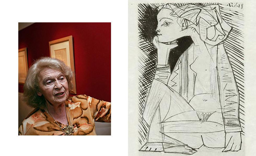 Geneviève Laporte e Picasso se conheceram em 1944, quando a garota entrevistou o artista para o jornal da escola. Anos depois, em 1951, Picasso então com 70 anos voltou a ser entrevistado pela jovem Geneviève, com 24 anos na época, foi então que o affair começou. Ficaram juntos de 1951 a 1953, chegando a passar um temporada inteira em St. Tropez. Os dois terminaram depois que o pintor a convidou para morar com ele ao mesmo tempo em que ele ainda estava com Françoise Gilot