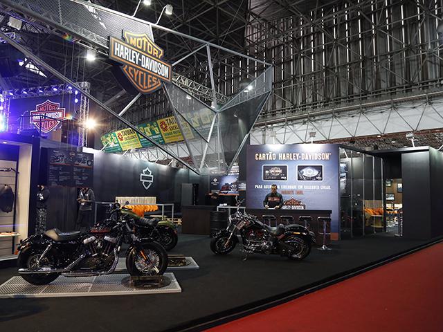 O stand da Harley Davidson no salão duas Rodas  ||  Créditos: Divulgação