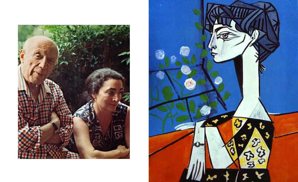 Jacqueline Roque foi a segunda esposa de Picasso e também sua última parceira. Os dois de conheceram na cerâmica Madoura, onde o artista trabalhava, e ficaram juntos até o ano da morte dele, 1973. Picasso nunca retratou tanto uma mulher quanto Jacqueline, chegando a pintar 70 retratos dela em um ano