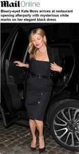 Kate Moss em mais uma polêmica envolvendo o uso de drogas?